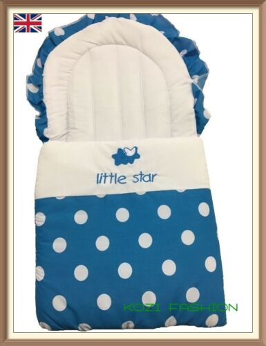 Pink, Black, Blue  /& Light Blue Baby Nest//Foot Muff Cosy Toes Polka Dots