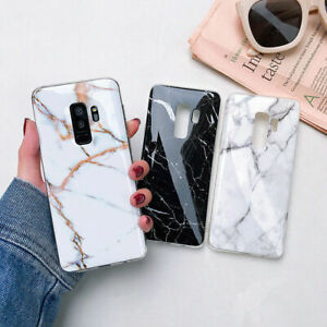 Case-For-Samsung-S10-e-S8-S9-Plus-S7-Marble-Shockproof-Silicone-Soft-Phone-Cover
