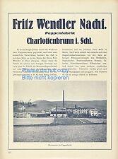 Pappenfabrik Wendler Charlottenbrunn 1923  XXL Reklame Schlesien Jedlina Zdroj +