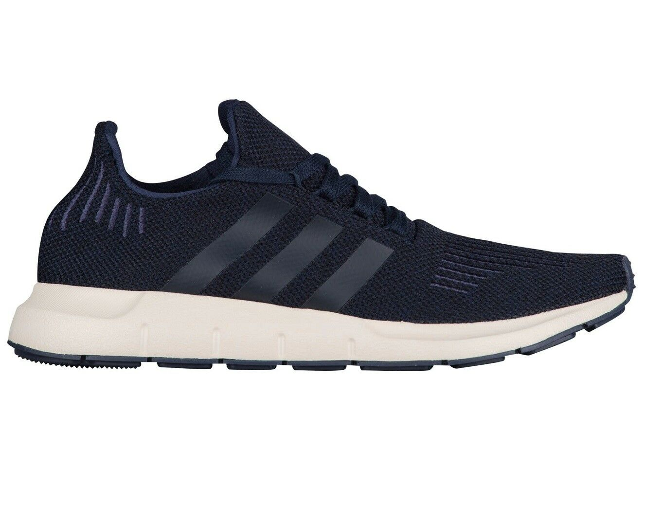 Adidas Swift Run Mens AC7165 Navy Trace Blue Knit Running Shoes Comfortable