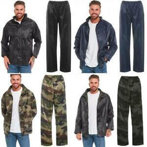 Arctic-Storm-Waterproof-Rain-Suit-Hooded-Jacket-amp-Trousers-Camo-Set