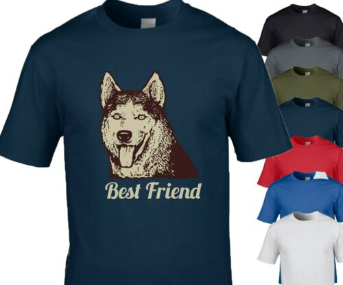 Husky Dog T shirt Best Friends Dog Shirt Dog Gift Dog Owner 7 Colours