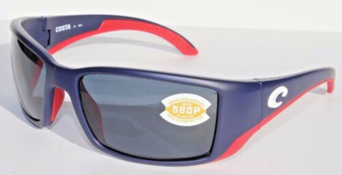 COSTA DEL MAR Blackfin 580P POLARIZED Sunglasses USA Blue//Gray LIMITED EDITION