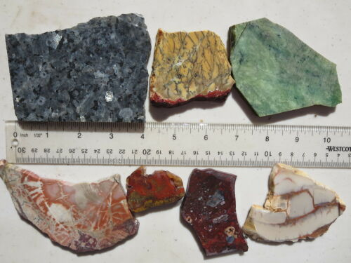 604  Nice 1# Assortment Of  Slabs From An Old, Closed Rock Shop.  Great For Cabs by Ebay Seller
