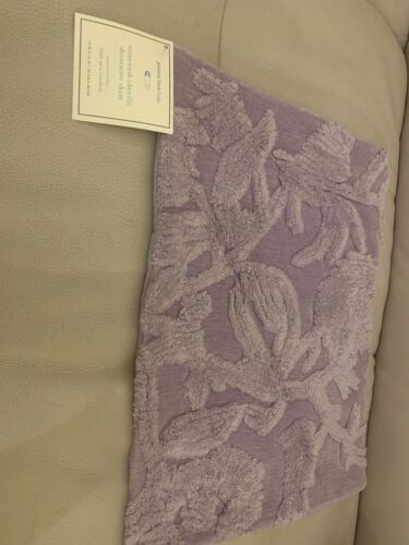 "NEW Pottery Barn Kids Stonewash CHENILLE Decorative Sham 12x16"" Lavender Purple"