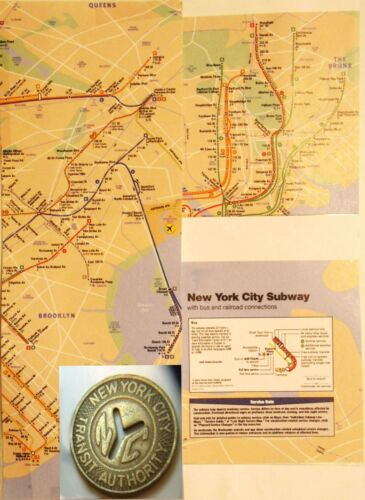 New York City Subway Token framed with map-IN A NEW YORK MINUTE!- lot chopin