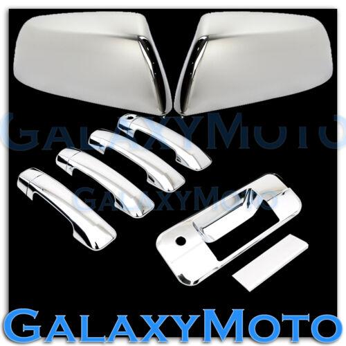 07-14 TUNDRA CREW MAX Chrome Half Mirror+4 Door Handle no PSGKH+Tailgate Cover