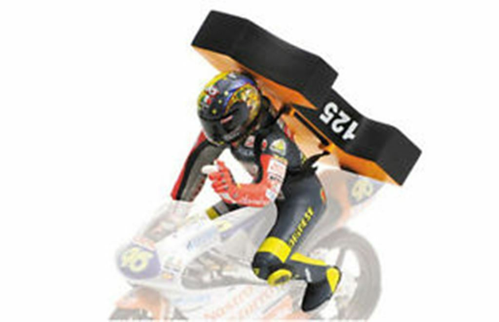 MINICHAMPS 312 970246  ROSSI figure 1st World Championship GP125 BRNO 1997 1 12