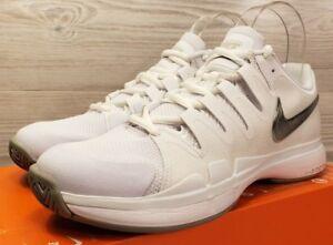 606e776ed7b4 Nike Women s Zoom Vapor 9.5 Tour White Metallic Silver Tennis 631475 ...