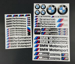 bmw motorsport m power 53 stickers decals set performance mpower 3 5 7 series m5 ebay. Black Bedroom Furniture Sets. Home Design Ideas