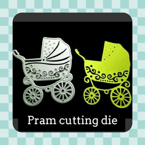 UK PRAM Metal Cutting Die Crafting Card Making Scrapbooking BABY