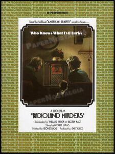"""RADIOLAND MURDERS__Original """"1974"""" Trade AD promo__Directed by GEORGE LUCAS"""