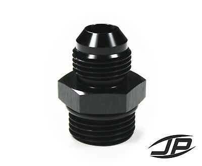 8AN Female Flare to 1//2 NPT Male Adapter AN Fitting BLACK