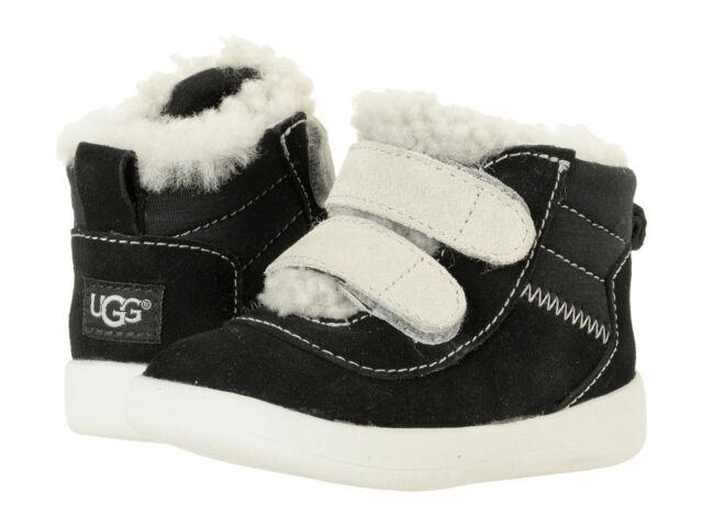06b3b830e26 UGG Pritchard Black Crib Baby Infant Toddler Cozy Shoes Orginal 1017195i 0/1