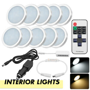 8x-12V-Dimmable-LED-Boat-Interior-Light-Ceiling-Lamp-RV-Camper-Caravan
