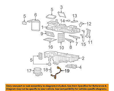 GM OEM Evaporator Heater-Wiring Harness 89019303