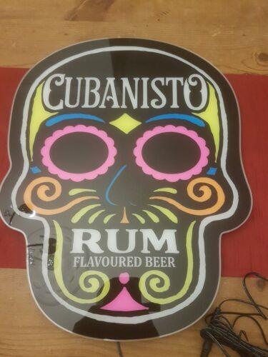CUBANISTO SKULL LED WALL HANGING NEON STYLE SIGN brand new pub bar MANCAVE