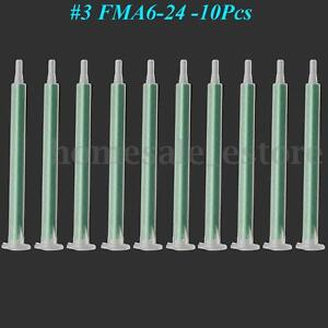 10x 1.5mm FMA6-24 Green Slip Type Adhesive Square Static Mixer Mixing Nozzle