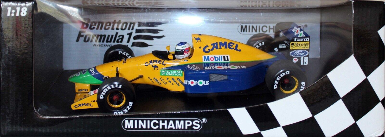 Minichamps 1:18 Benetton Ford B191 M. Schumacher Completo Camel librea 100 910119