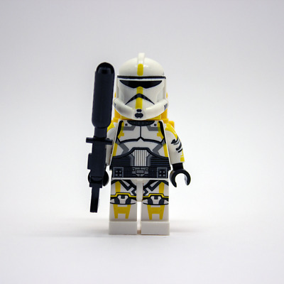 Black Custom FLAME TROOPER BACKPACK for  Star Wars Minifigures Clone Wars