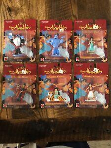 Disney Aladdin 1992 Mattel Ensemble de 6 figurines à collectionner de 3,5 pouces (jasmine, Rajah)