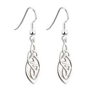 74c12b9eb Image is loading Solvar-Sterling-Silver-Celtic-Design-Earrings-s33424-Made-