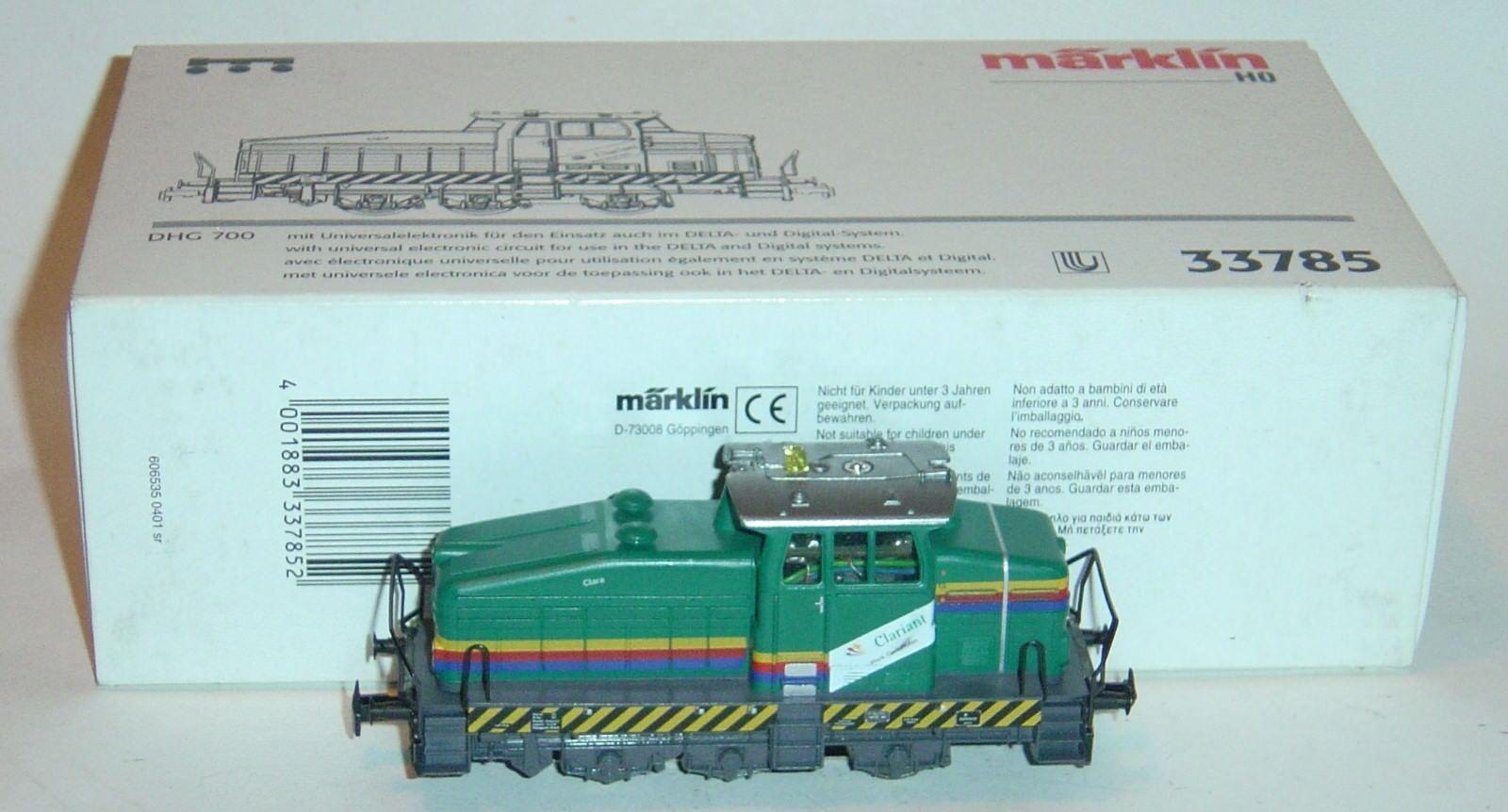 Marklin ho, diesel locomotive DHG 700 clariant ref.33785 Delta digital