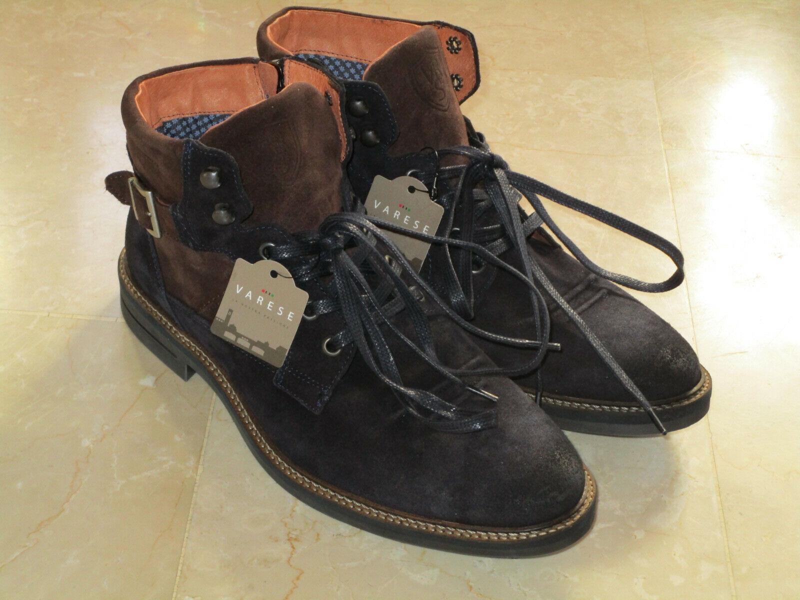VARESE braun, neu Leder, dunkelblau Gr.42, Schuhe