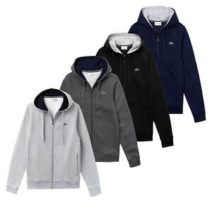 Lacoste-Sport-Men-039-s-Croc-Full-Zip-Jacket-Hoodie-Hoody-Grey-Black-Navy-Charcoal