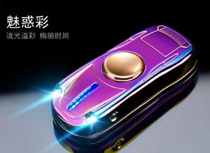 Sports Car Electric Lighter USB Rechargeable Spinner Fidget Led flashligher gift
