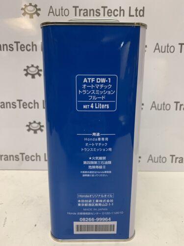 Genuine HONDA ATF dw1 Transmission Automatique Boite De Vitesse Huile 4 L ULTRA ATF DW-1 Fluid