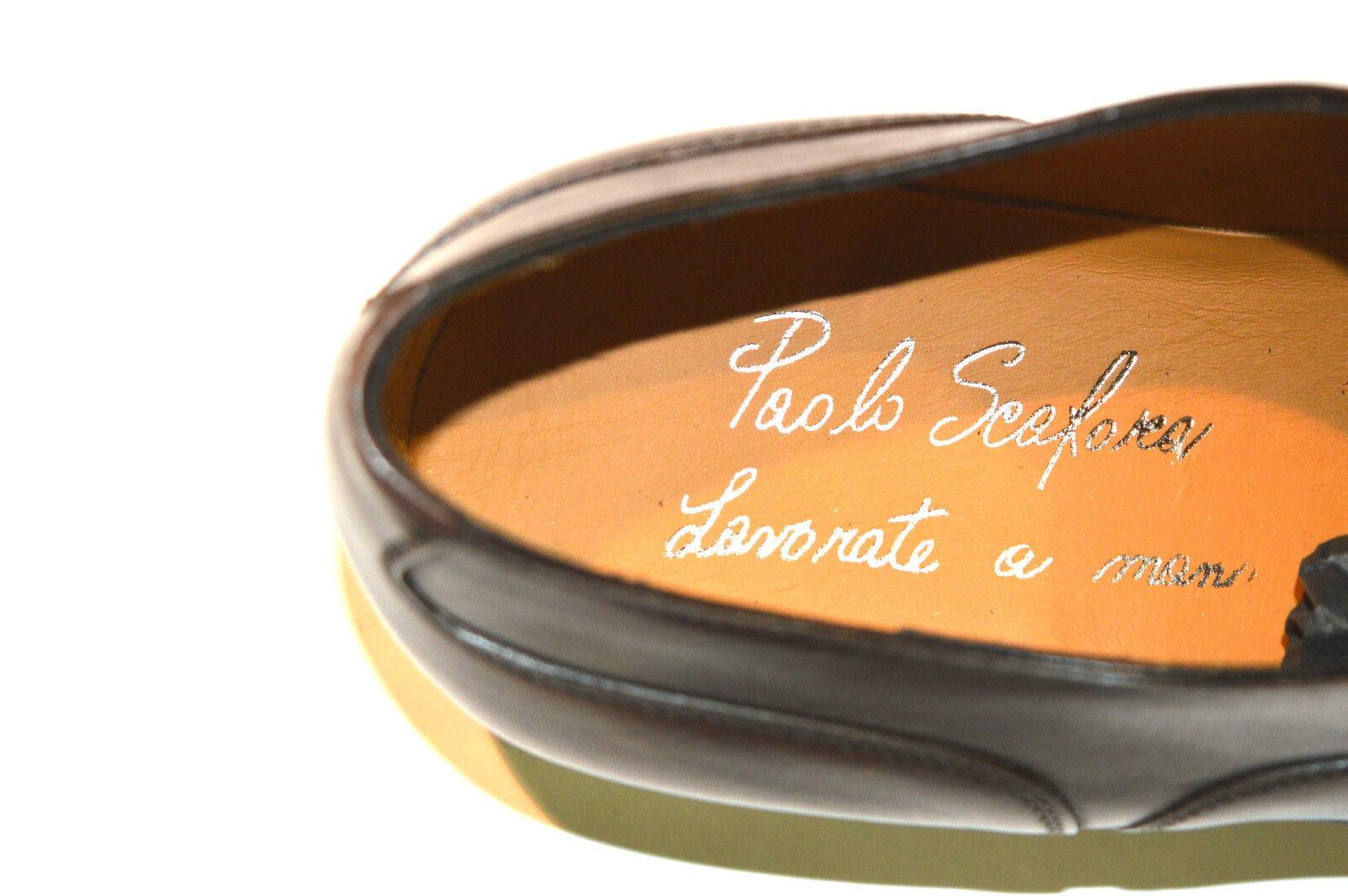 New PAOLO SCAFORA SCAFORA SCAFORA Dress Leather Luxury schuhe Größe Eu 45 Uk 11 Us 12 (Cod 6) e11ce8