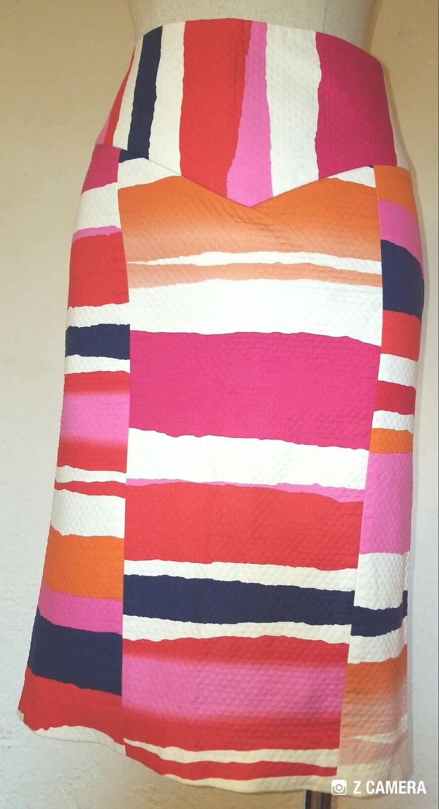 Diane Von Furstenberg Bright Pencil Skirt Size 2