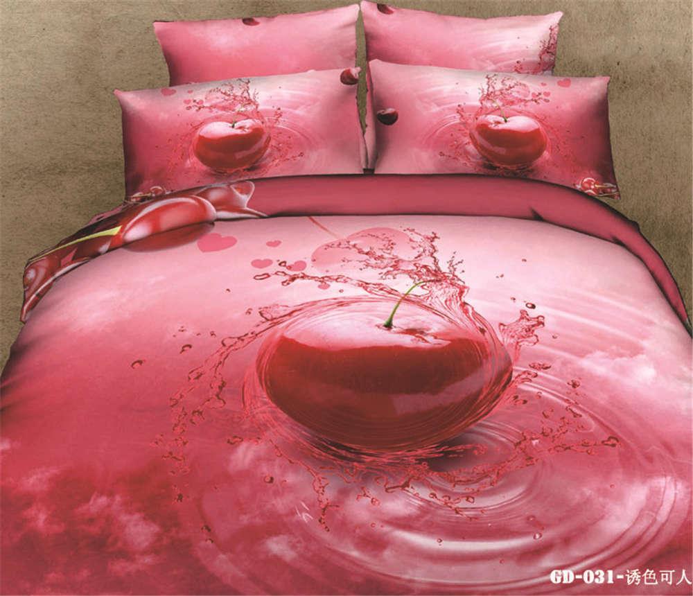 rot Blood Apple 3D Printing Duvet Quilt Doona Covers Pillow Case Bedding Sets