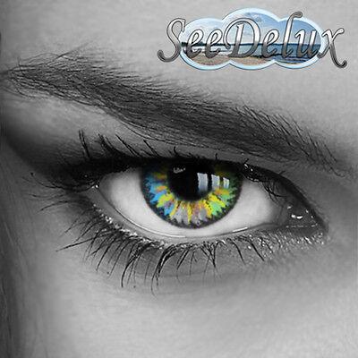 4Color4U -GAUDY- Farbige Kontaktlinsen mit STÄRKE - Blau - Grün - Grau!!!
