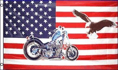 USA Motorcycle Eagle 3x5 Feet Flag