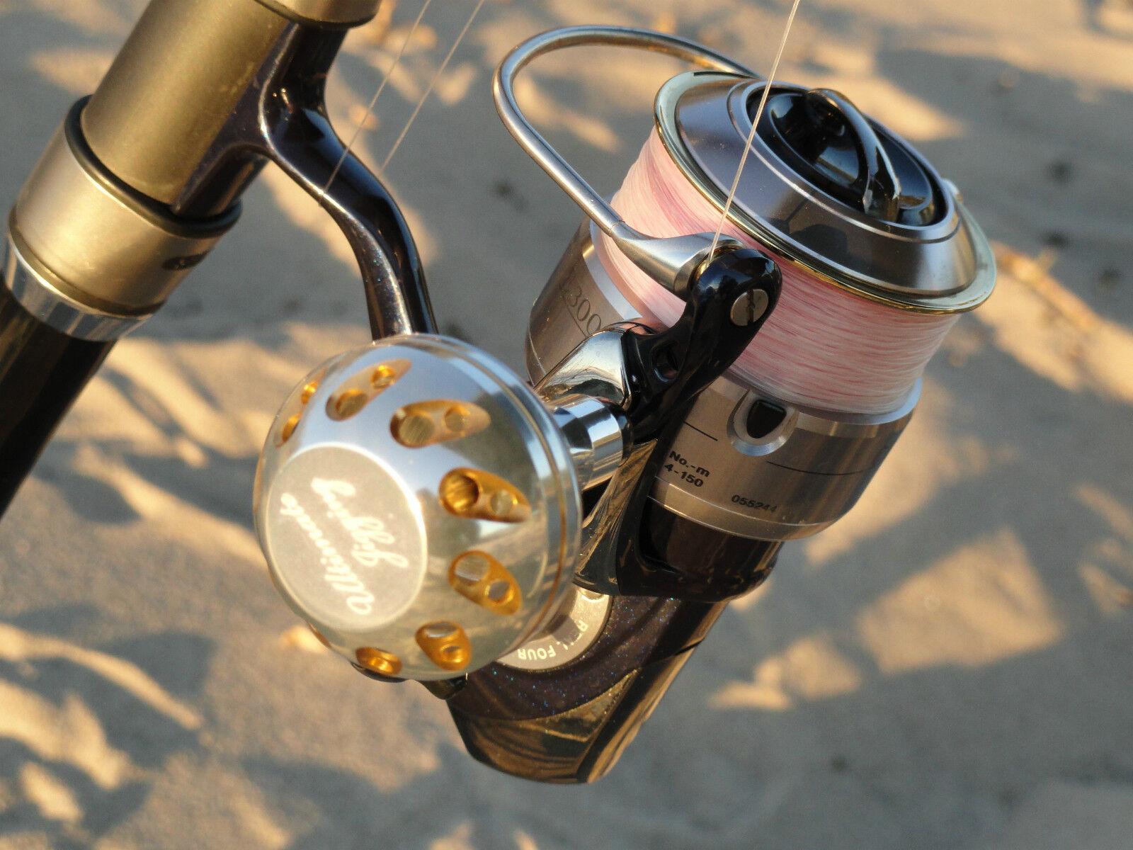 Ultimate Jigging Jigging Jigging PRK 40mm Knob D cup for DAIWA Saltiga Game Certate reel Blau/SV 240228
