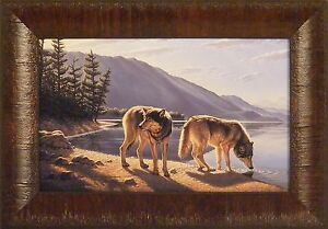 PAUSE ON THE WAY by Paul Krapf Wolf Wolves Timberwolf 11x15 FRAMED PRINT PICTURE