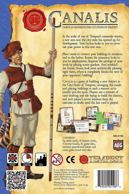 Canalis A Tempest Baord Game Alderac Entertainment Group (AEG) BRAND BRAND BRAND NEW a9b43b