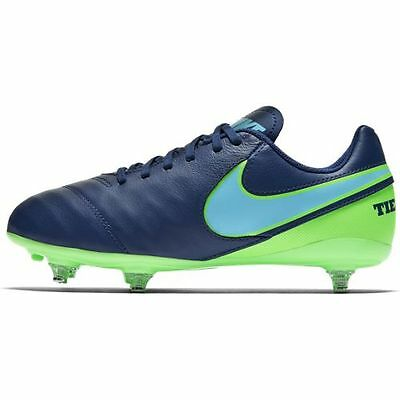 Scarpe da calcio bimbo Nike Tiempo Legend VI SG J 852500 443 blu azzurro verde | eBay