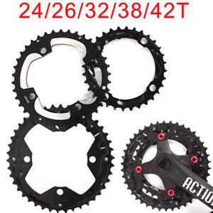 24-26-32-38-42-Double-Triple-104-64BCD-Chainring-Crankset-Sprocket-Mountain-Bike
