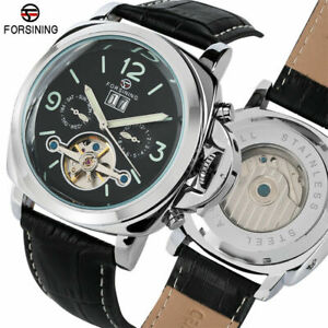 FORSINING-Day-Tourbillon-Analog-Men-039-s-Self-Wind-Mechanical-Wrist-Watch-Gift