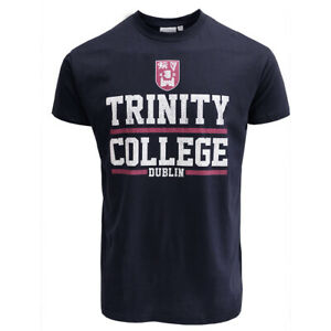 Men-T-Shirt-Navy-and-White-Trinity-College-Mesh-Dublin