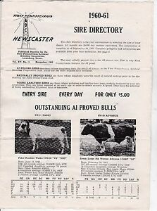 Vintage sire directory abc newscaster 1960 1961 cow for Abc salon sire directory