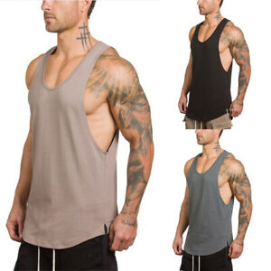 Mens-Gym-Sleeveless-Vest-Bodybuilding-Tank-Top-Muscle-Stringer-T-Shirt-Tee-Shirt