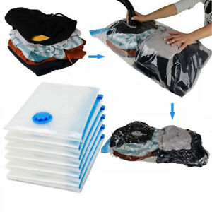 Details About Saving Storage Bag Vacuum Seal Compressed Clothes Bedding Organizer Hot