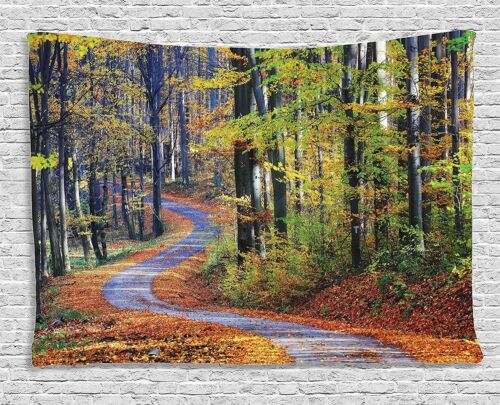 Tapestry Wall Hanging Tapestry Art Road Forest Print Home Decoration Bedspread