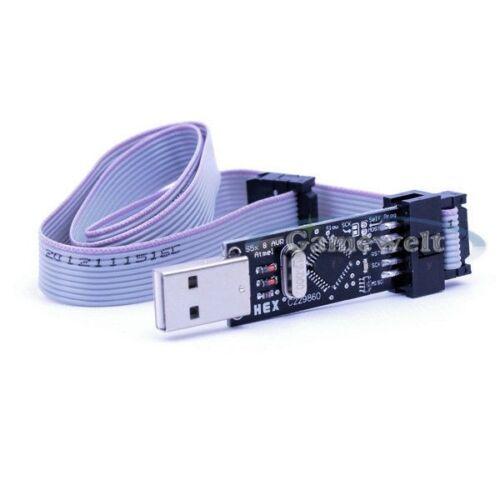 USB ISP USBASP-Programmiergerät programmatore per Atmel AVR ATmega 51 ATTINY
