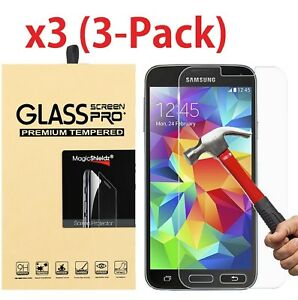 3b552471e80 3-Pack Tempered Glass Screen Protector for Samsung Galaxy S3 S4 S5 ...