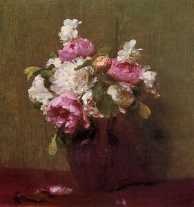 Art-Oil-painting-Henri-Fantin-Latour-Flower-White-Peonies-and-Roses-Narcissus